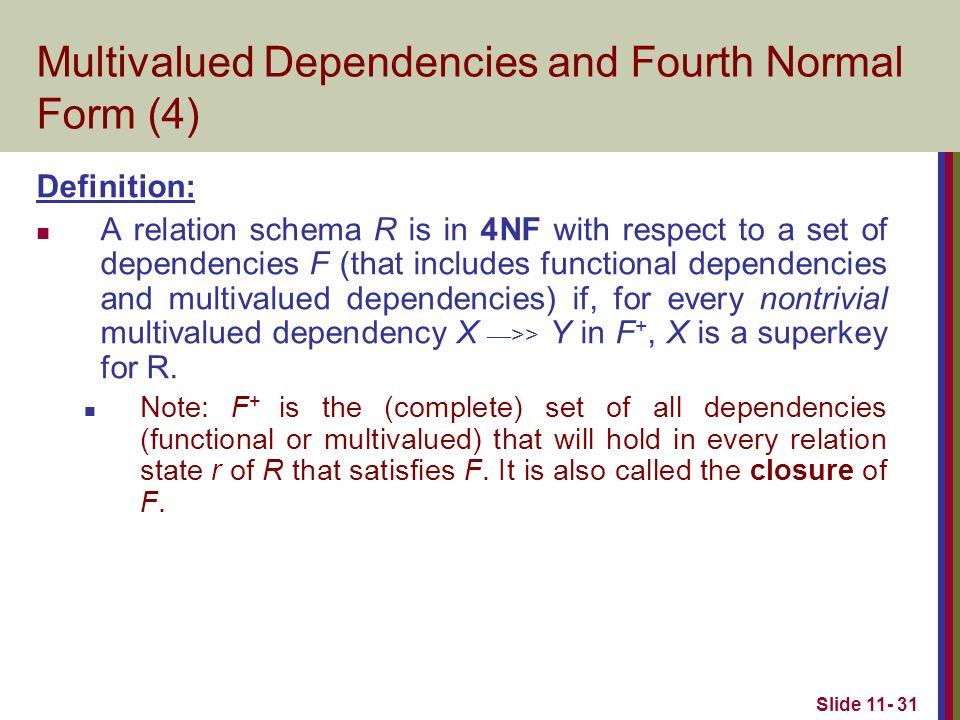Relational Database Design Algorithms and Further Dependencies ...