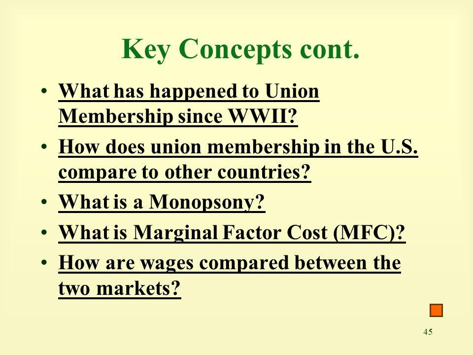 45 Key Concepts cont.