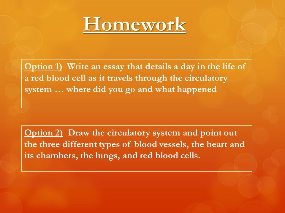 the circulatory system the learning objectives define the parts  17 homework