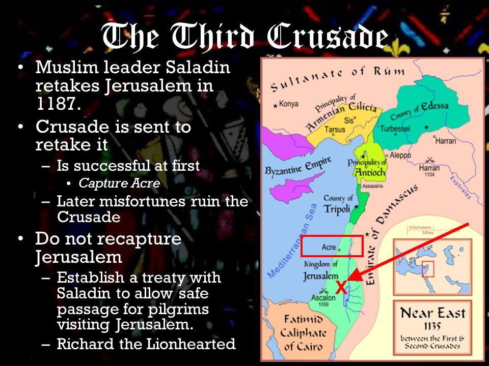Muslim leader Saladin retakes Jerusalem in 1187.