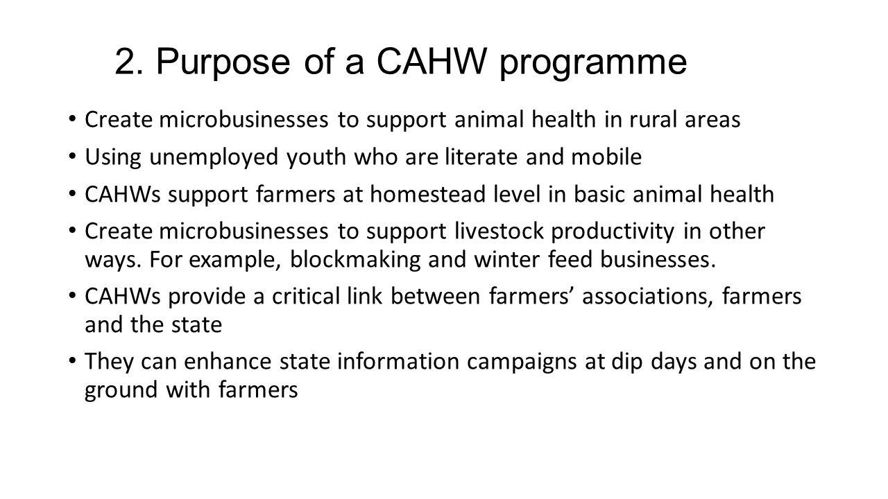 community animal health workers best practice microbusiness module
