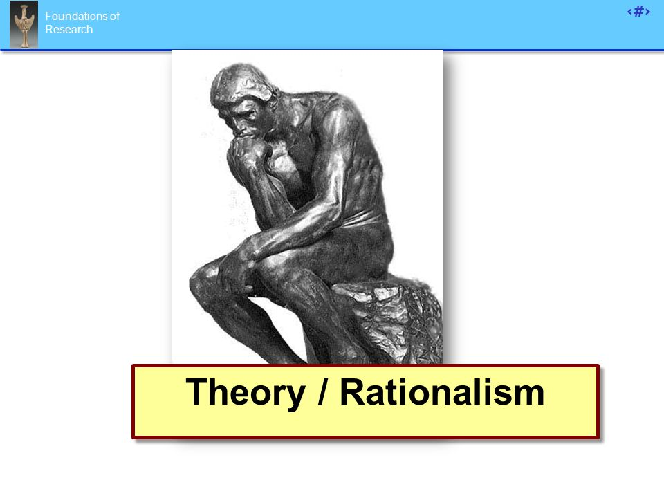 Foundations of Research 88 Theory / Rationalism