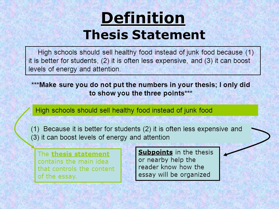 model thesis statement
