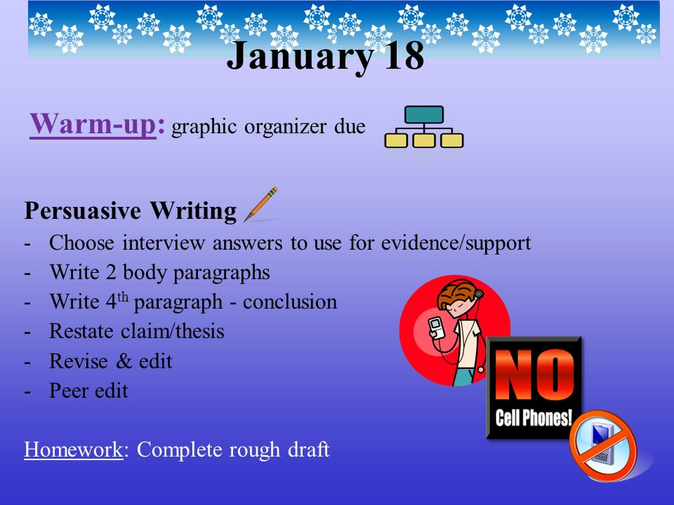 revising and editing a persuasive essay