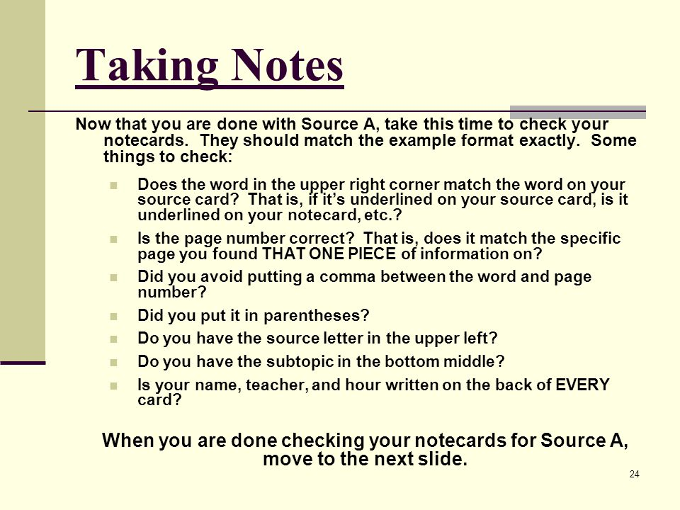 another word for taking notes