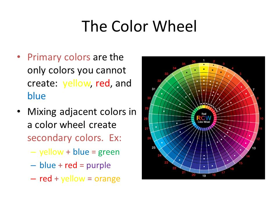 The Color Wheel Primary Colors Are Only You Cannot Create Yellow Red