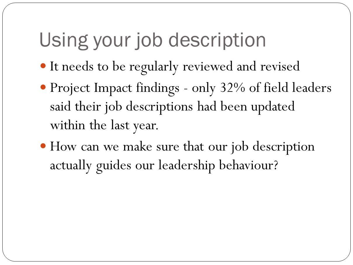writing your own job description