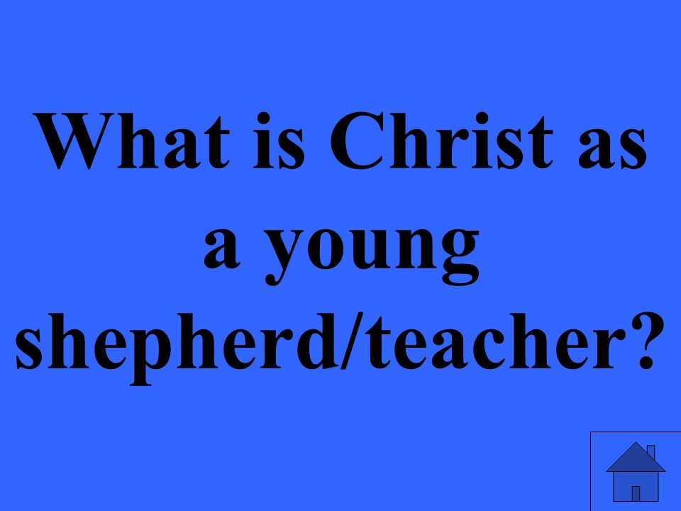 What is Christ as a young shepherd/teacher