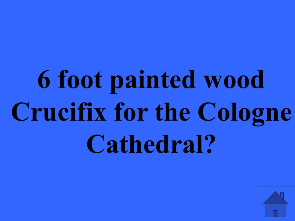 6 foot painted wood Crucifix for the Cologne Cathedral