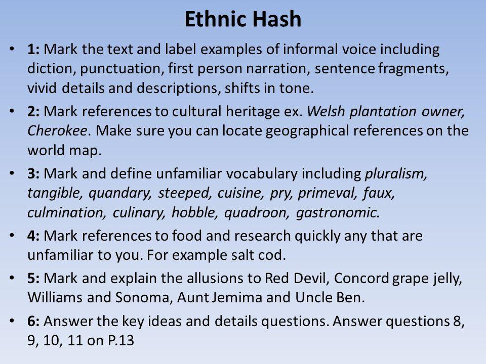 narrative essay on ethnicity