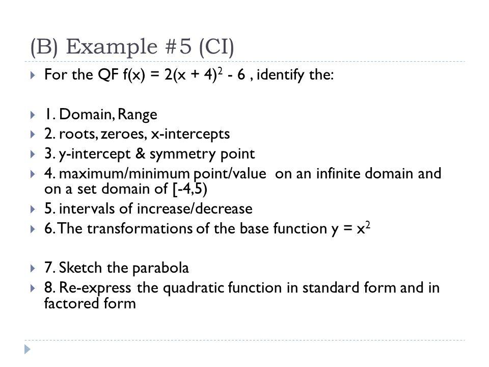 Lesson 15 – Graphs of Quadratic Functions Math 2 Honors ...