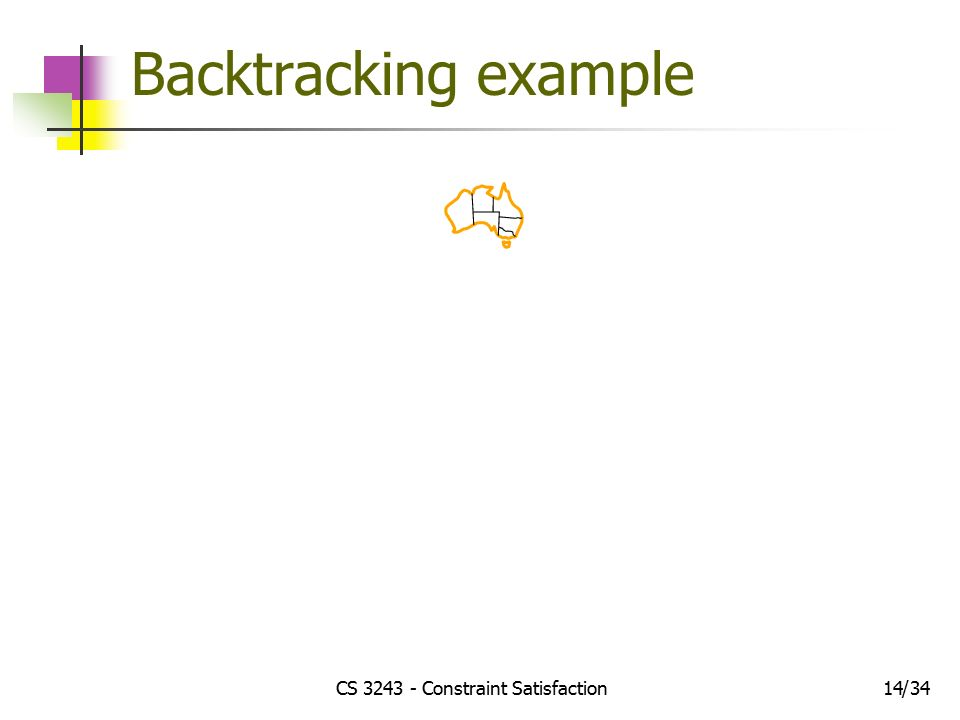 CS Constraint Satisfaction1434/ Backtracking example