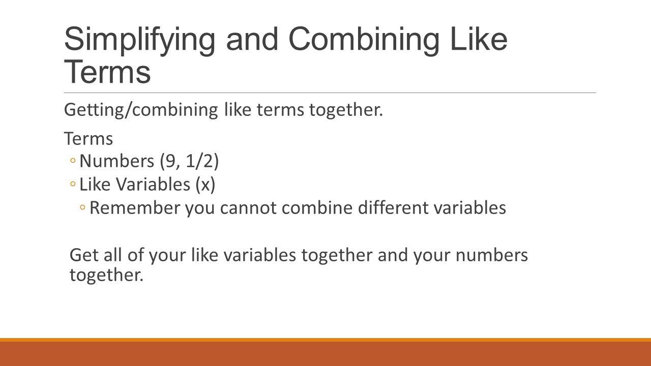 worksheet Worksheet Combining Like Terms skills challenge 1 q3 cmic objectives co swbat solve simplifying and combining like terms gettingcombining together