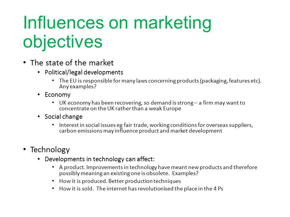 marketing objectives examples