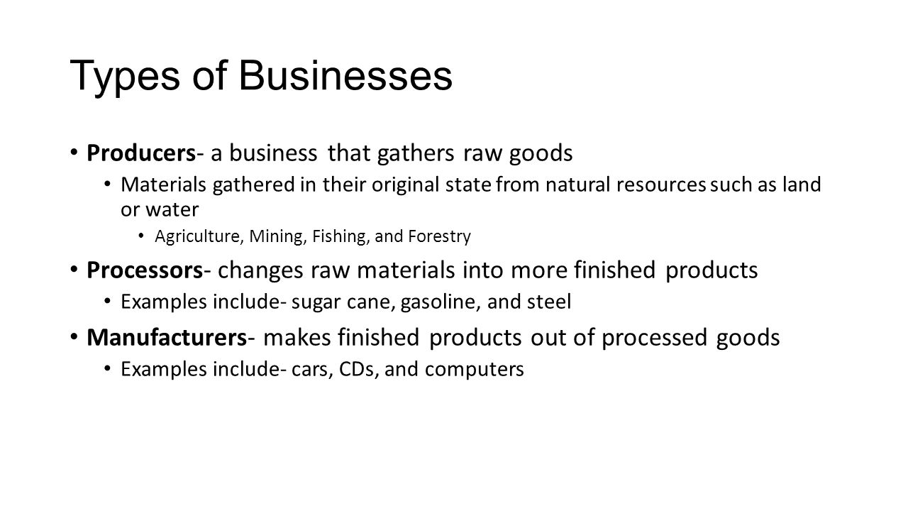 chapter types of business ownership describe the advantages 22 types of businesses
