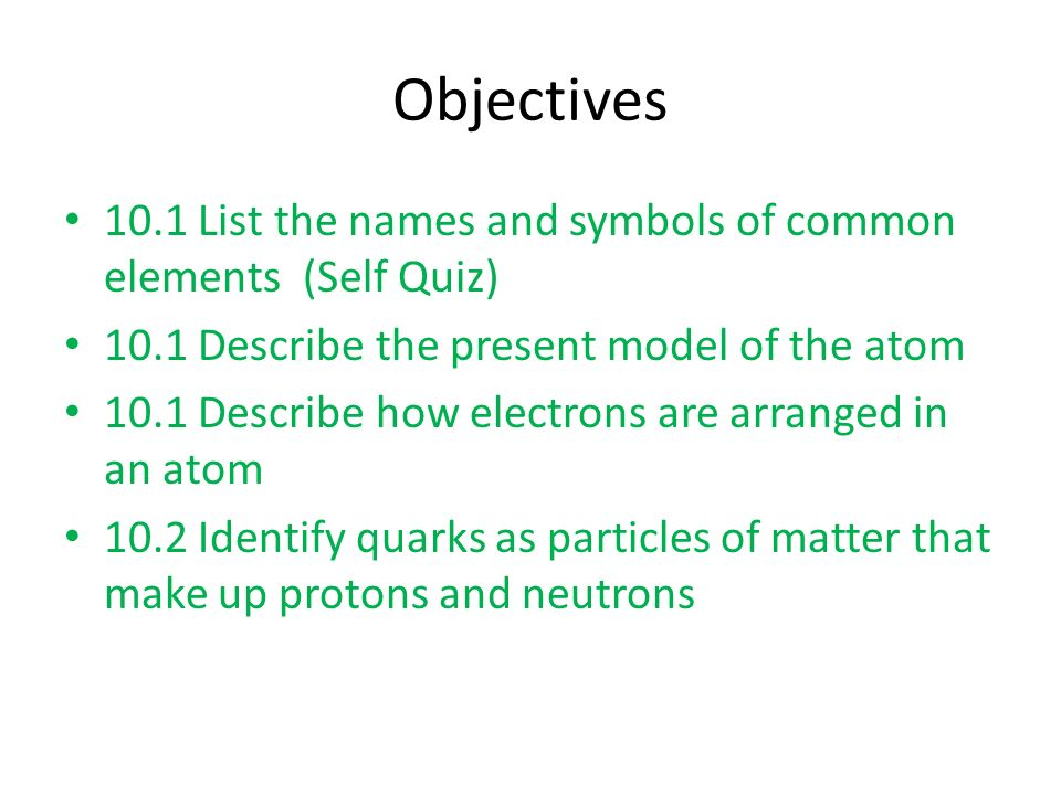 Chapter 10 atomic structure and the periodic table ppt download 2 objectives urtaz Choice Image