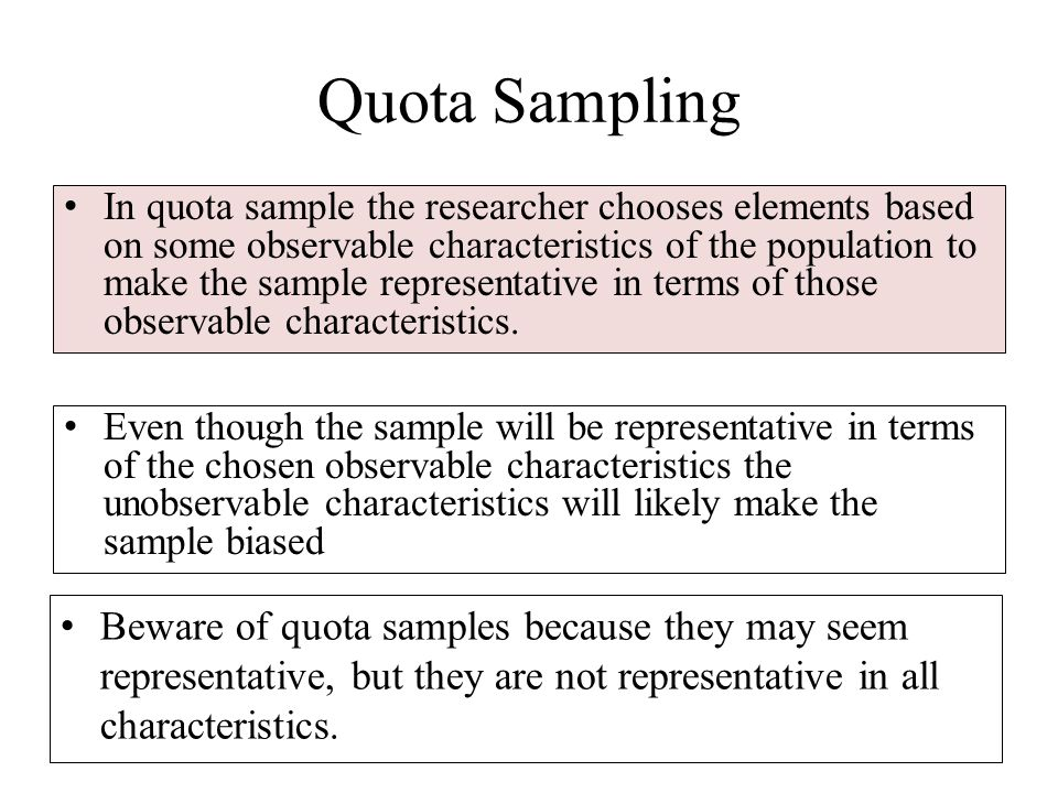 Non Probability Sampling Non Probability Sampling Should Be Used