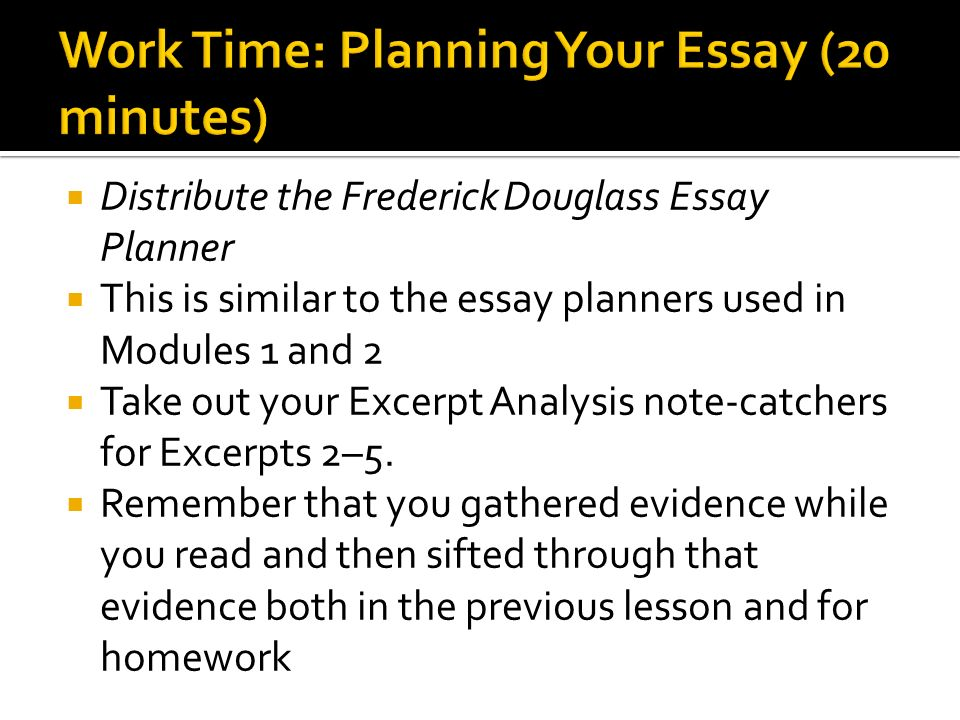 Writing An Essay Plan