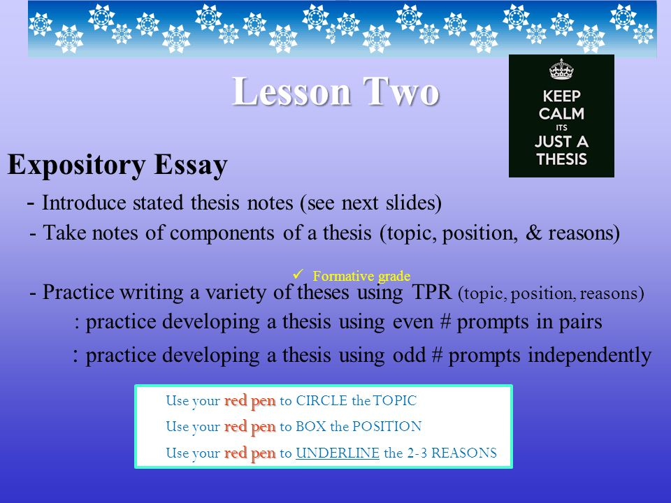 Compare And Contrast Essay About High School And College How To Write An Expository Essay Introduction Slideplayer Proposal Essay Topic List also A Thesis For An Essay Should Buy Speech Outline  Sinecos Profile Pvt Ltd Expository Essay  High School Reflective Essay Examples
