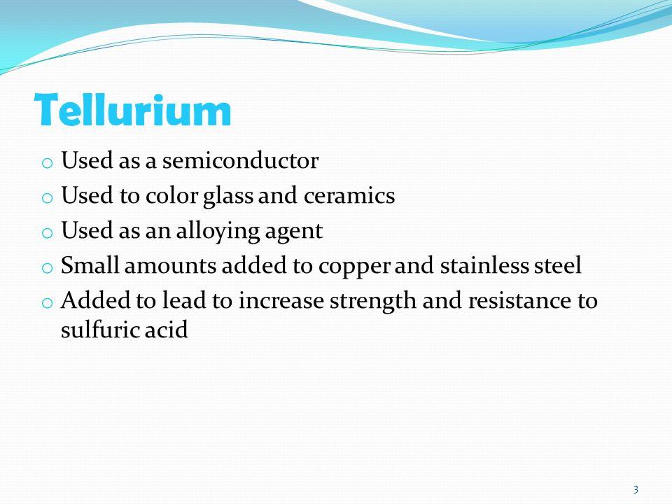 Tellurium o chemical symbol te o atomic number 52 o color 3 tellurium urtaz Image collections