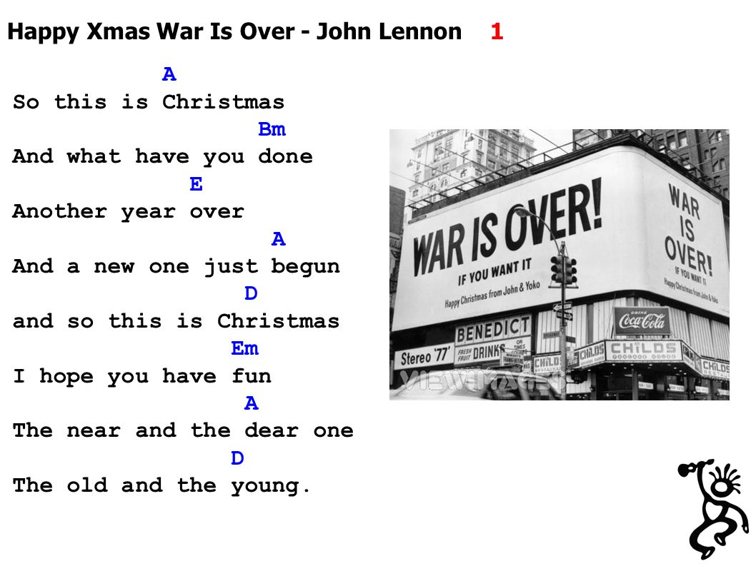 John Lennon Happy Xmas War Is Over song facts - satukis.info