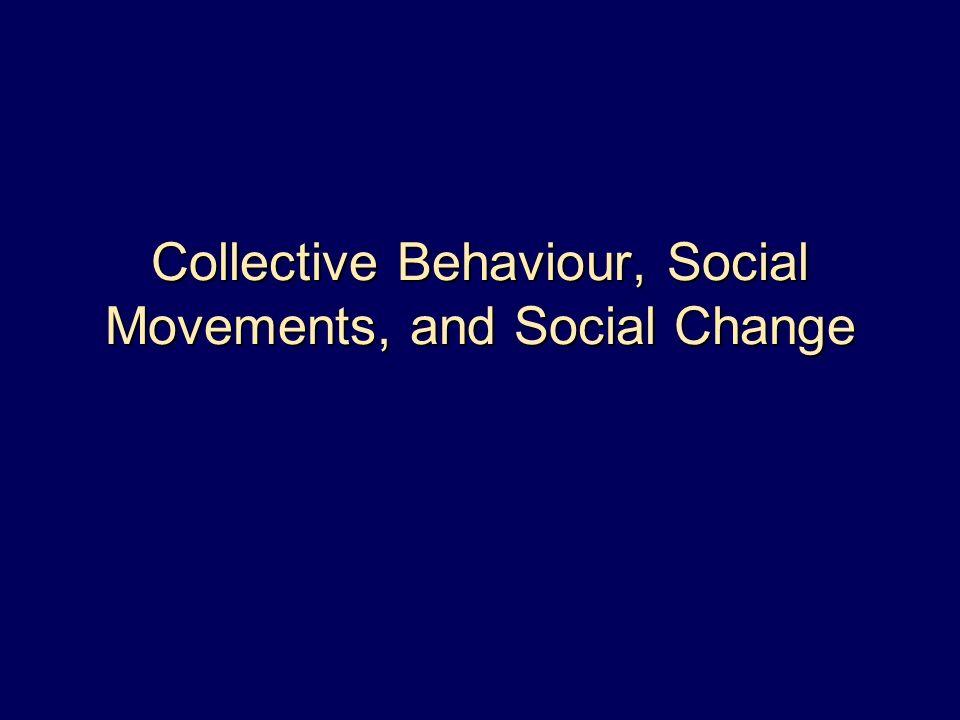 social change and social movements