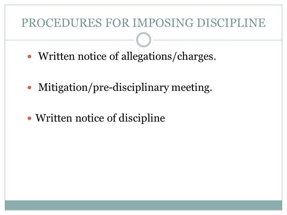 employee notice of discipline