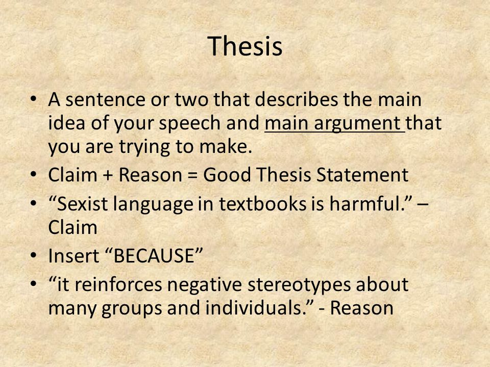 thesis sentence music A thesis statement is a strong statement that you can prove with evidence it is not a simple statement of fact a thesis statement (music, art, political.
