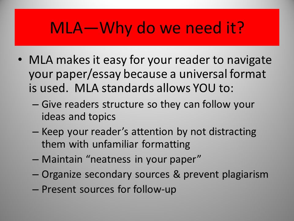 high school essay format mla