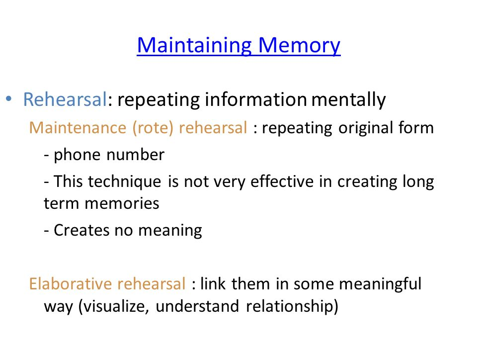 Help psychology as coursework on effect of rehearsal on memory recall Please help?