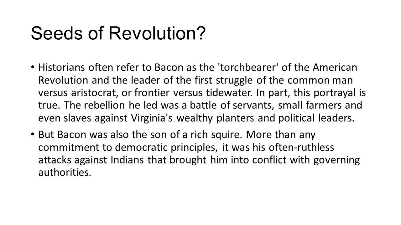 Seeds of Revolution.
