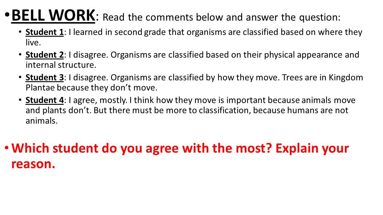 Kingdom classification worksheet answer key