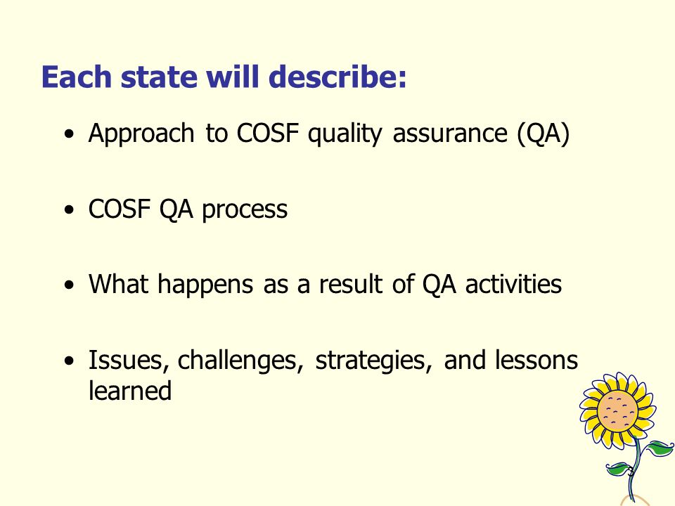 1 Assuring the Quality of Data from the Child Outcomes Summary ...
