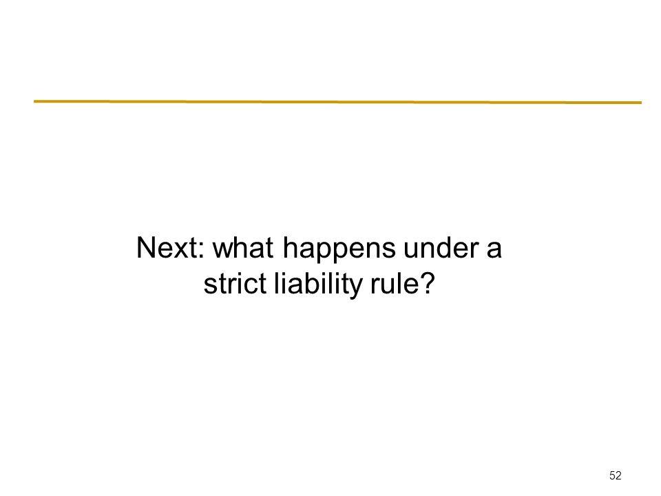 52 Next: what happens under a strict liability rule