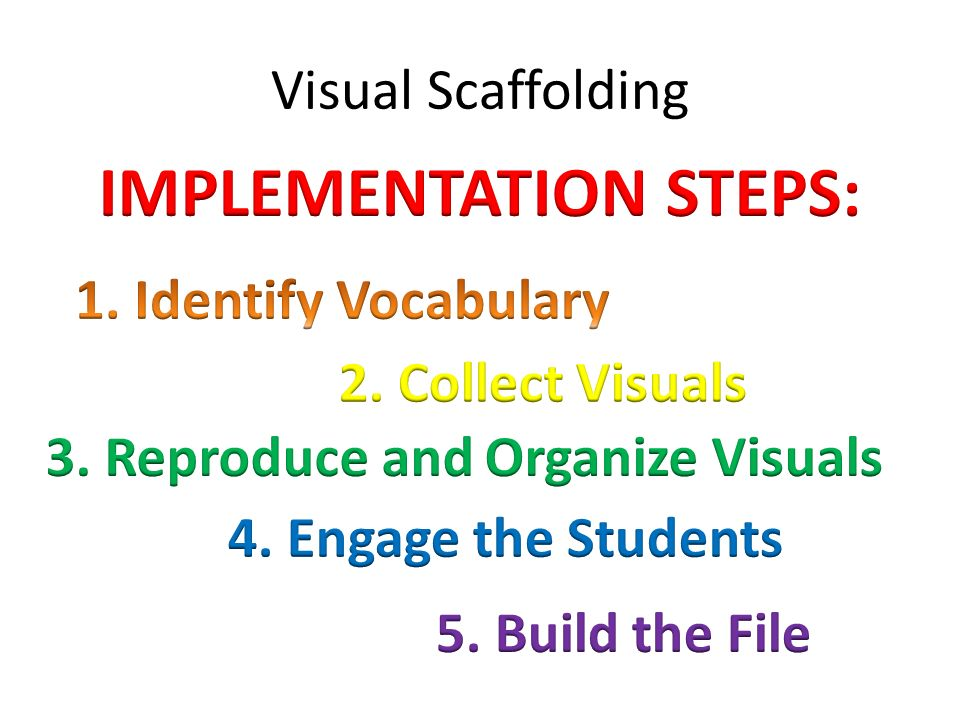 Visual Scaffolding