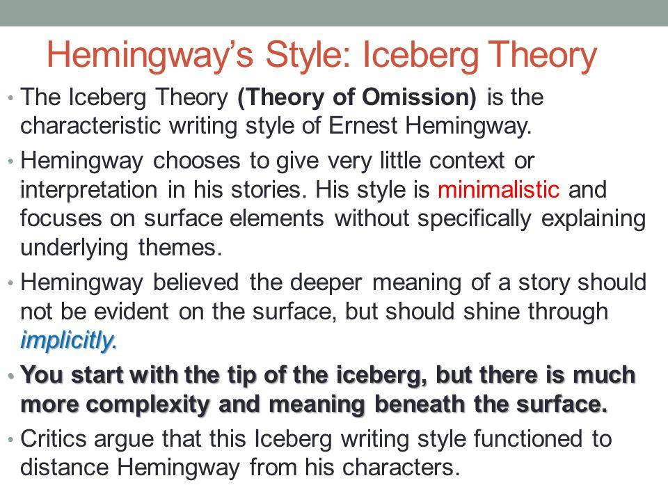 hemingway style critically the short hemingway story 6 hemingway s style iceberg
