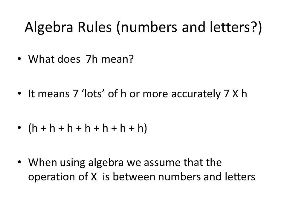 Algebra Algebra Involves The Use Of Letters A B C X Q P Or