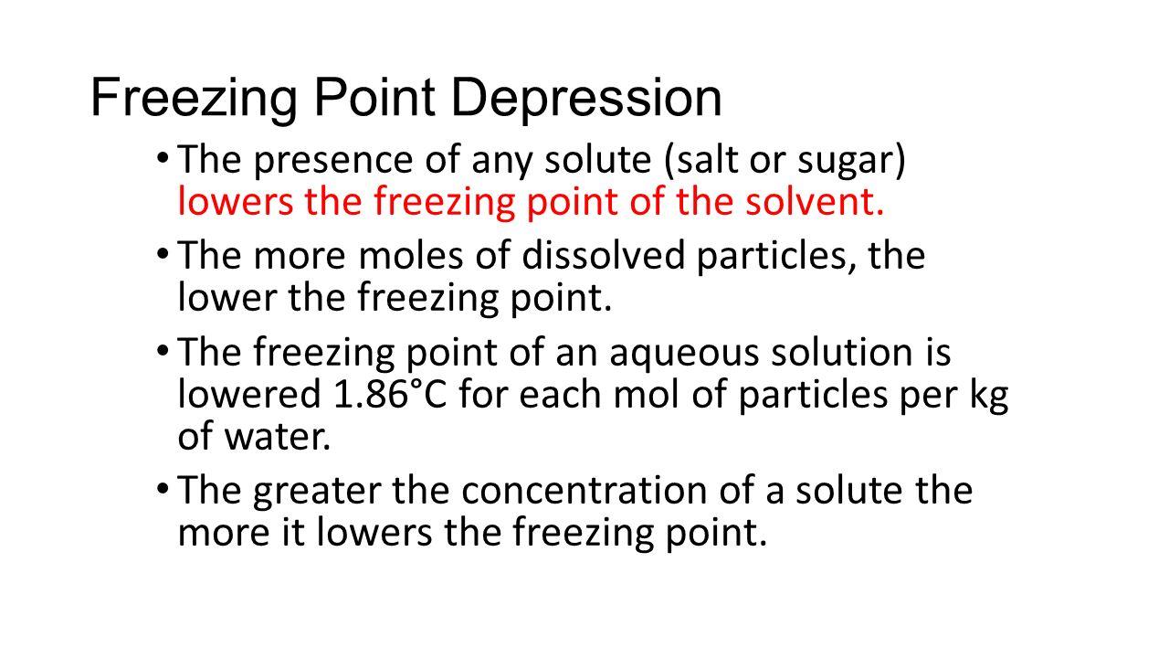 freezing point depression of benzophenone
