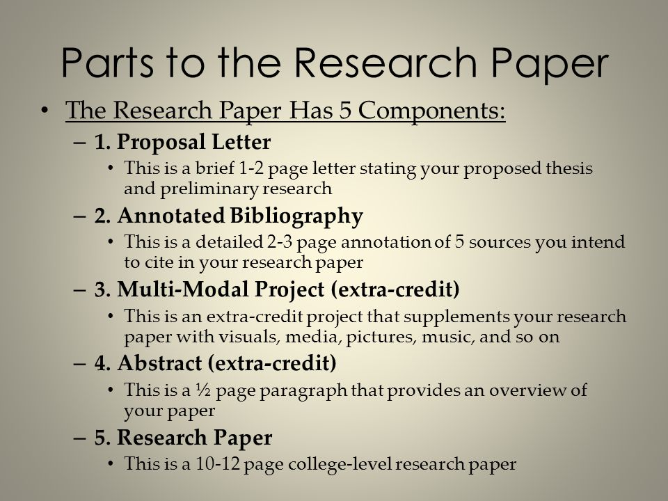 bibliography for a research paper
