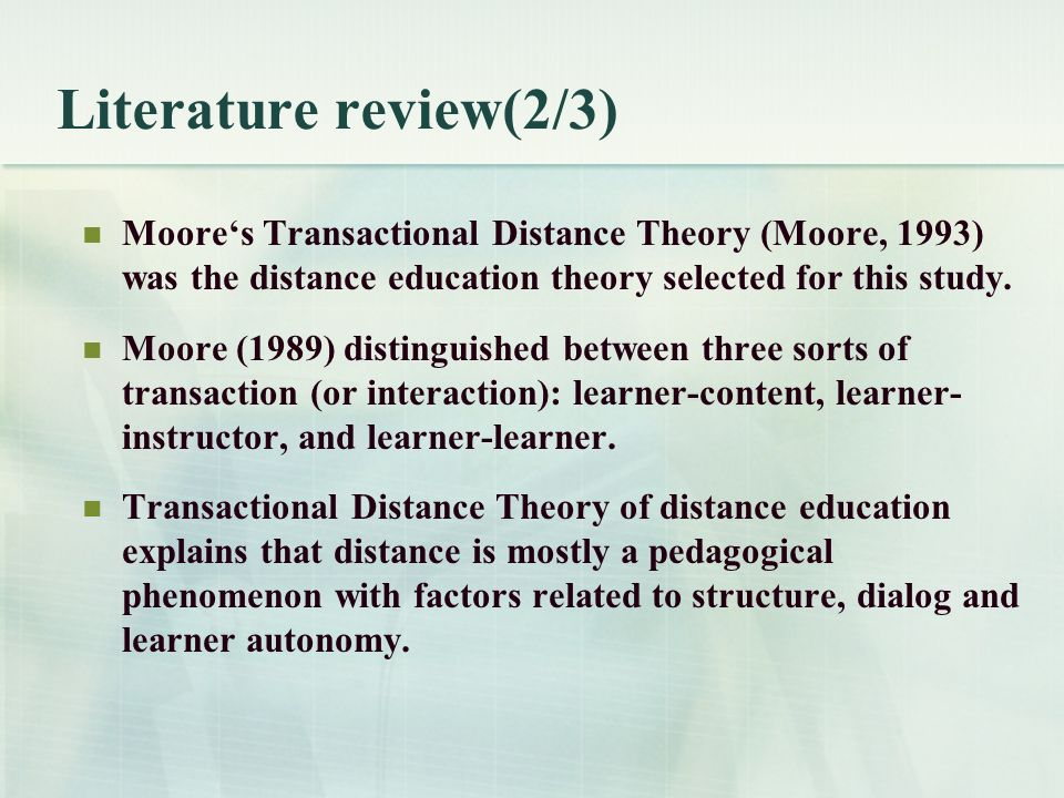 distance learning in relation to access essay