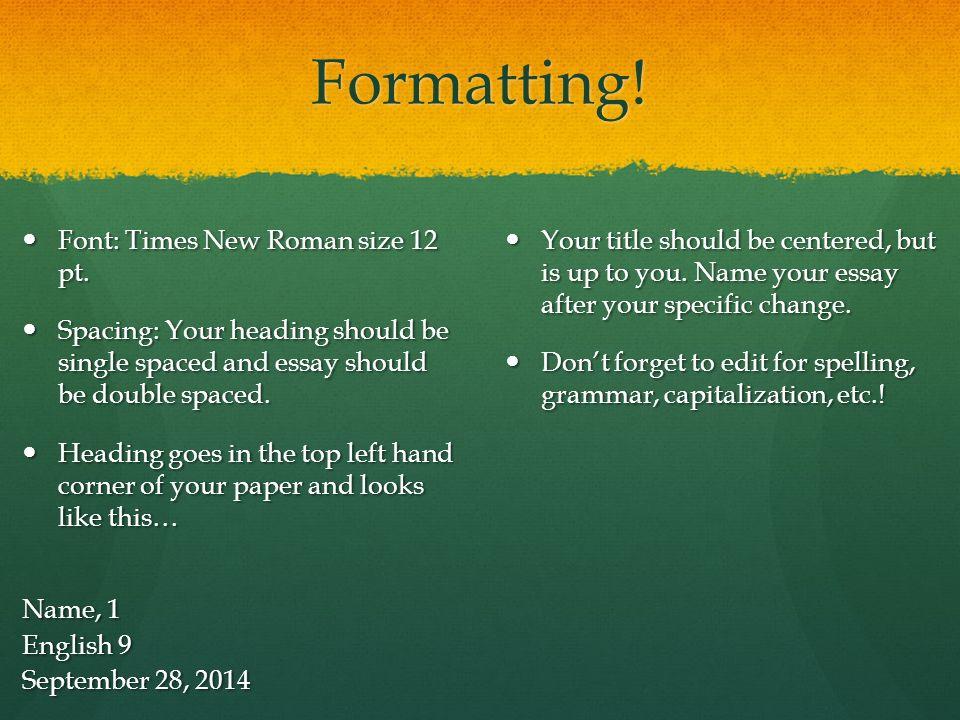 proper format of a college essay