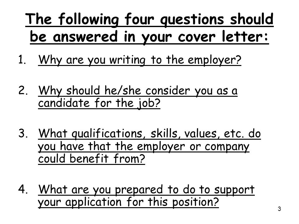 what is the purpose of a good cover letters