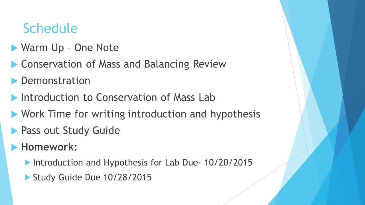 Law of Conservation of Matter - ppt video online download