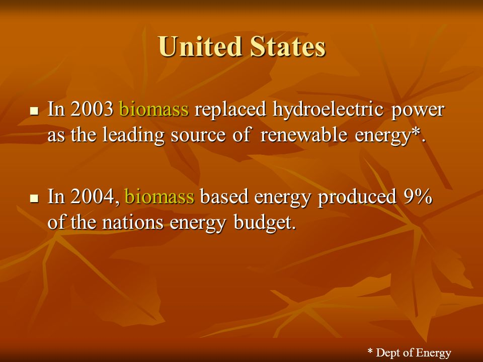 Biofuels How Old Is That Plant In Your Tank United States In - How old is united states