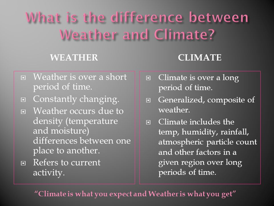 The Study of the Atmosphere By: Meghan Kohut. WEATHERCLIMATE ...