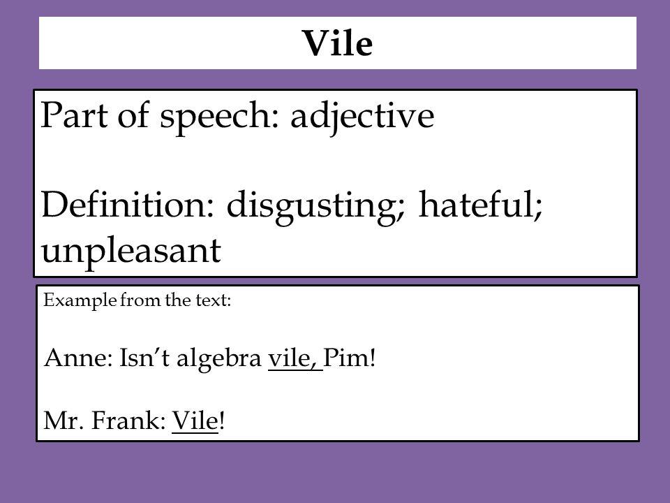 Vile Definition