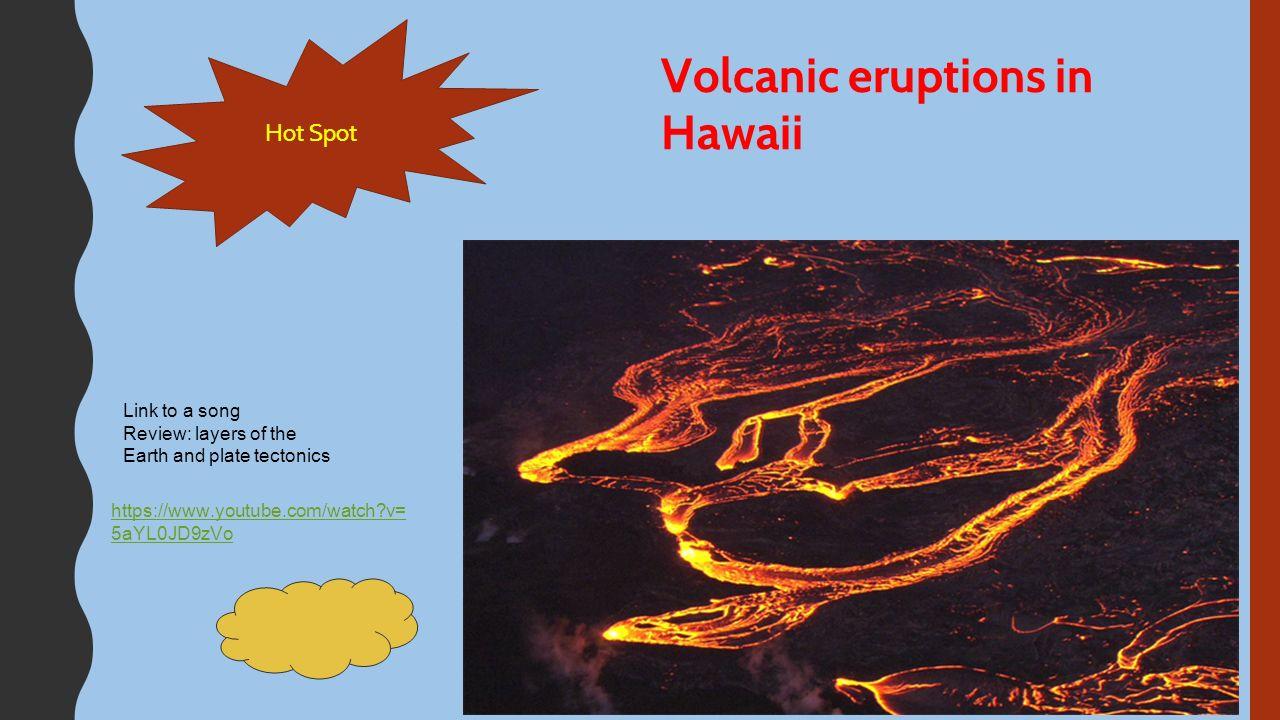 Plate tectonics. 23 Hot Spot Volcanic ...