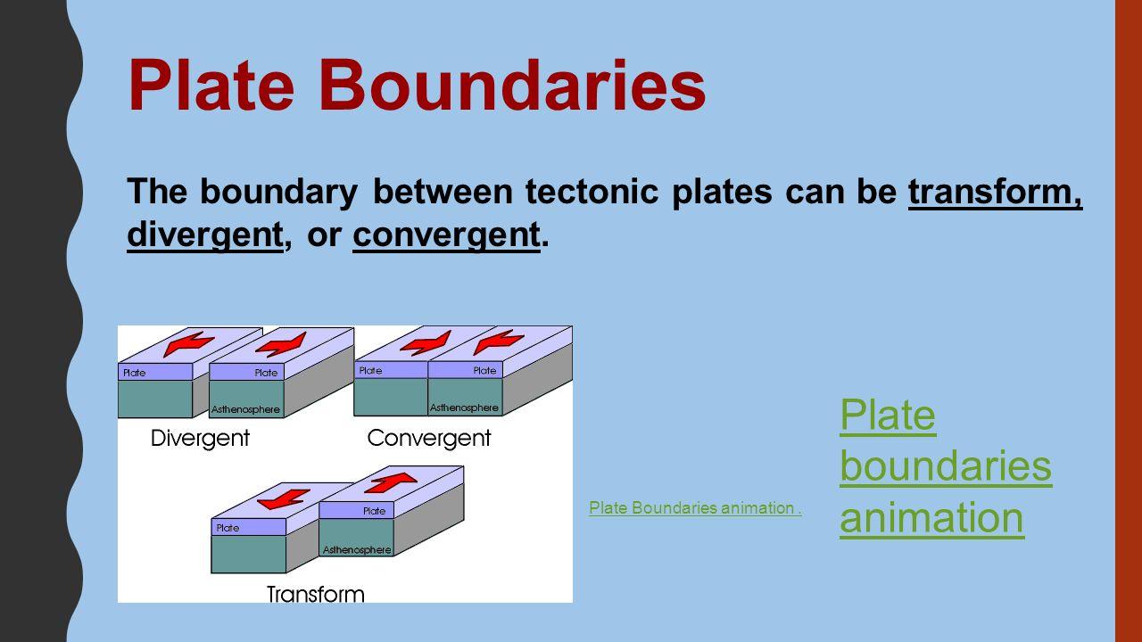 5 Plate Boundaries ...