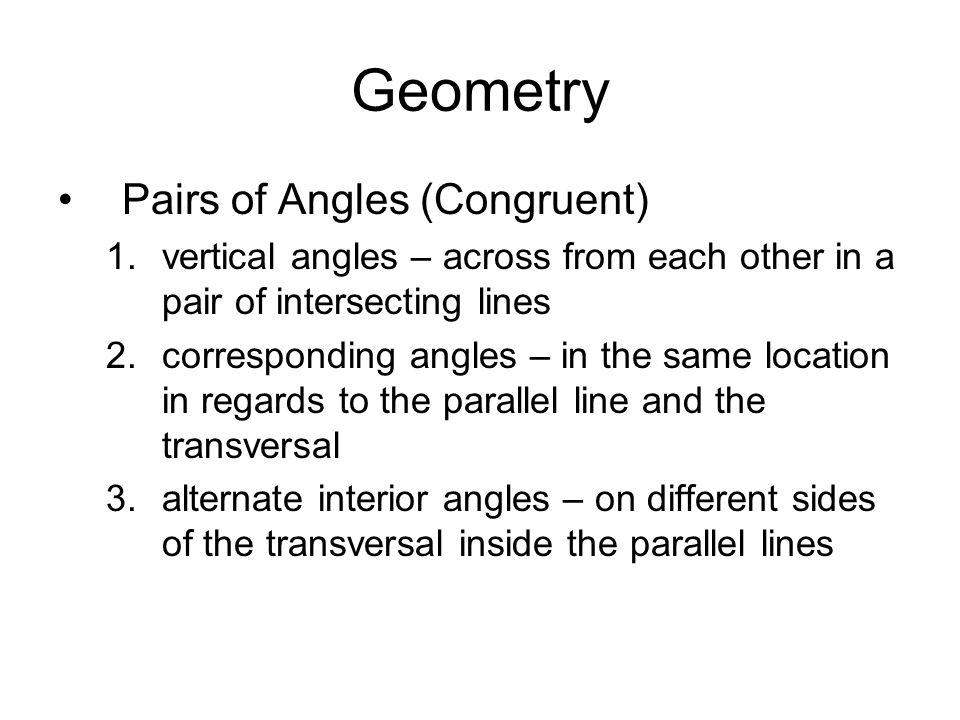 Geometry Definitions Geometry Definitions 1straight angle 180