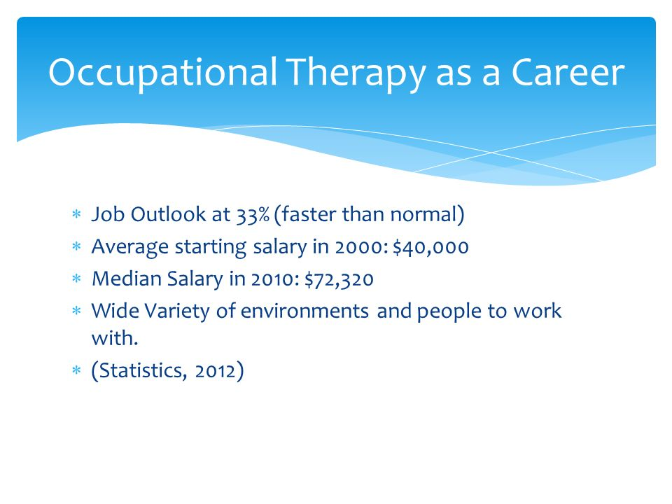 "Occupational Therapy By: Emily Castillo.  ""Occupational Therapy"